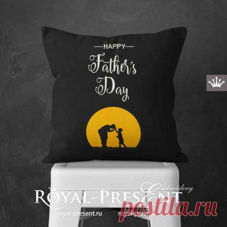 Дизайны машинной вышивки с аппликацией День отца