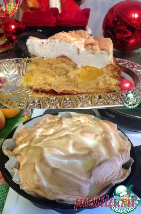 """Пирог """"Апельсин под снегом"""" – кулинарный рецепт"""