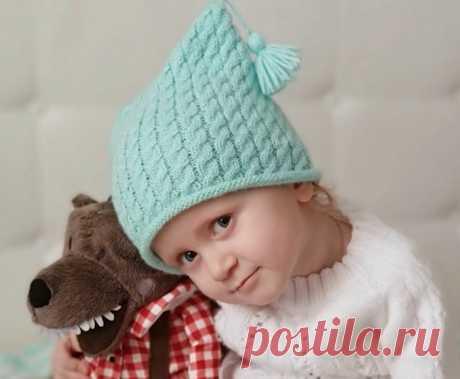 Простая детская шапка с косами. Как связать шапку? | Факультет рукоделия | Яндекс Дзен