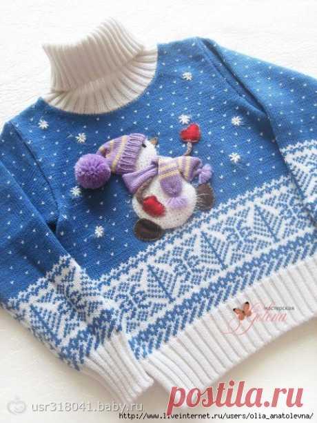 "детский свитер ""снеговик"""