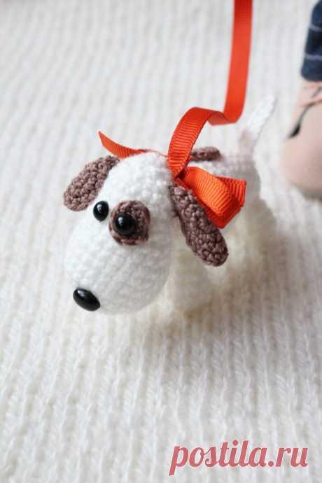 Вязаная собачка амигуруми. Схема вязания. – Амигурумик