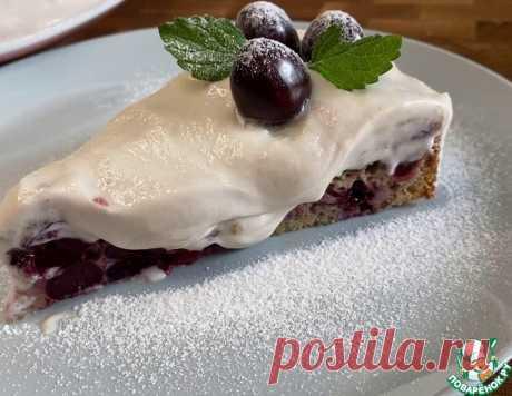 Черешневый пирог со сливочным кремом – кулинарный рецепт