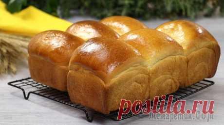 """Японский молочный хлеб """"Хоккайдо"""" (Лёгкий, пушистый и самый нежный хлеб!)"""