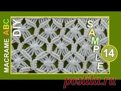 Macrame ABC - pattern sample #14