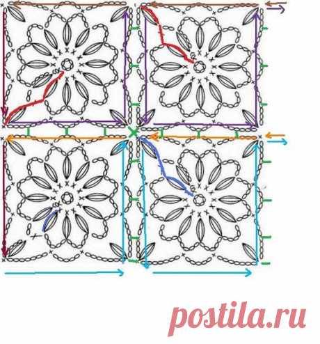 Схемы безотрывного вязания
