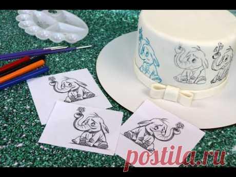 4 легких способа ПЕРЕНОСА рисунка на торт