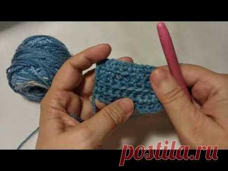 Начало вязания крючком. Столбики без накида и соединительные столбики
