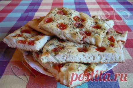 Фокачча – итальянская лепёшка из теста на закваске.
