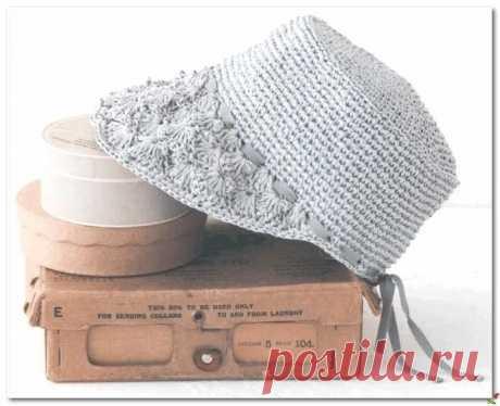 Панамка с козырьком в стиле ретро. Крючком. Схемы. / knittingideas.ru