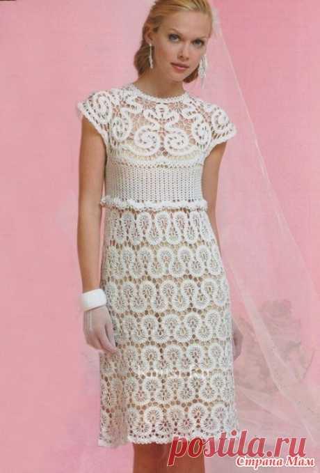 Платье брюггским кружевом - Вяжем вместе он-лайн - Страна Мам