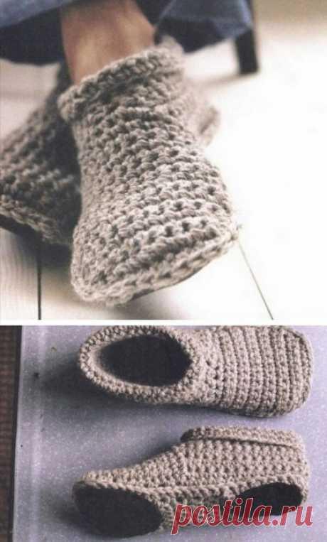 Тапочки-носочки, дома должно быть уютно!