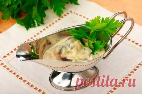 Грибной соус из шампиньонов со сметаной – пошаговый рецепт с фото.
