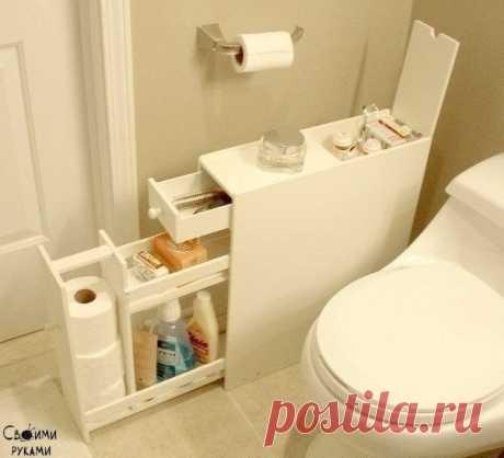 Шкафчик для ванной комнаты своими руками.