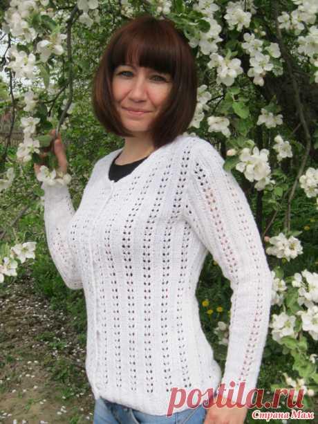 Белый ажурный жакет - Вязание - Страна Мам