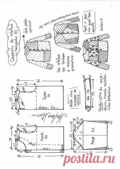 Casaco jaqueta de retalhos – Marlene Mukai