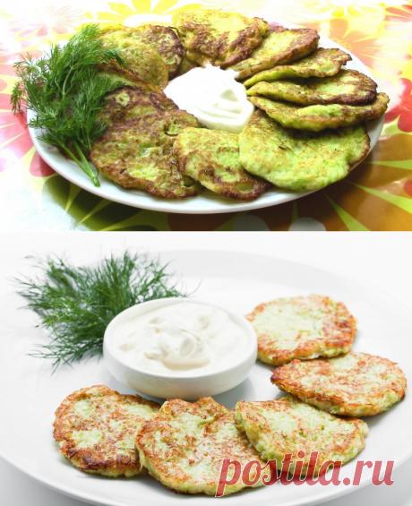 Кабачковые оладьи  / Простые рецепты