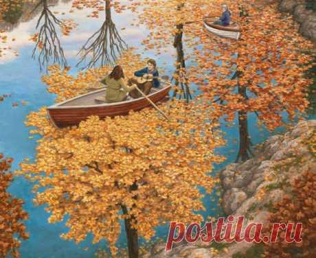 Прекрасные работы художника Роберта Гонсалвеса выражают истинно детское чувство ожидания чуда и любопытства. Волшебные картины, которые раскрываются при внимательном взгляде