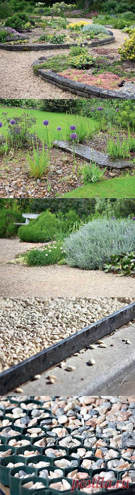 Гравий: как использовать в саду