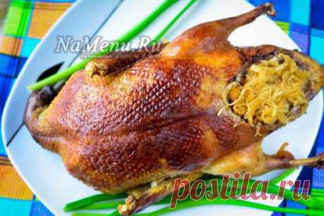 Утка с квашеной капустой в духовке: пошаговый рецепт