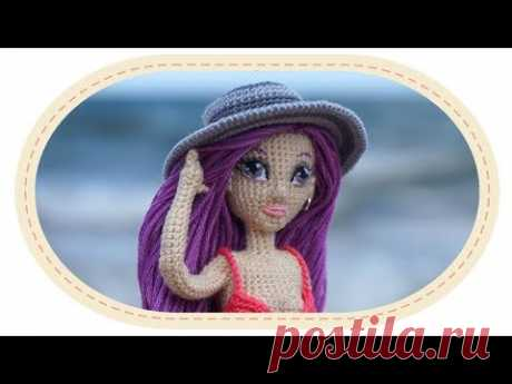 El sombrero de señora por el gancho para la muñeca de Violetty. Crochet hat for Violetta doll.