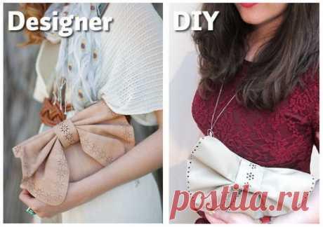 """Клатч с """"бабочкой из кожи"""" (Diy) Модная одежда и дизайн интерьера своими руками"""