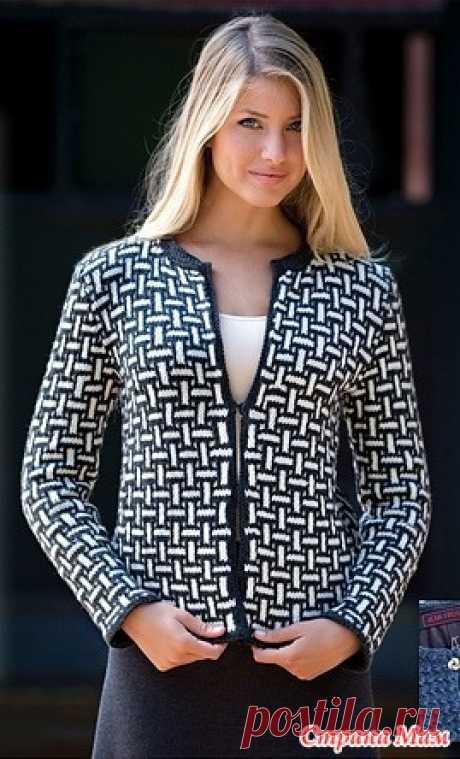 Black-and-white jacket lazy jacquard pattern https:\/\/www.liveinternet.ru\/users\/5808089\/post354215262\/
