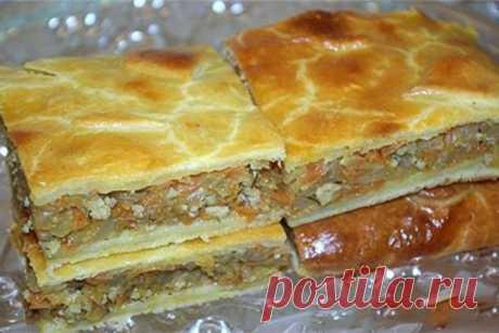 Сочный капустный пирог с куриным фаршем ⋆ Хозяюшка