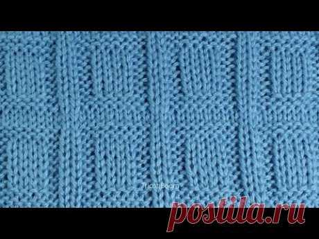 Узор для мужского пуловера / Вязание спицами - YouTube
