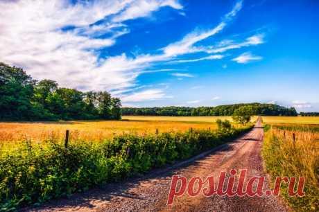 поле дорога небо Скачать картинку 4256x2832 поле дорога небо