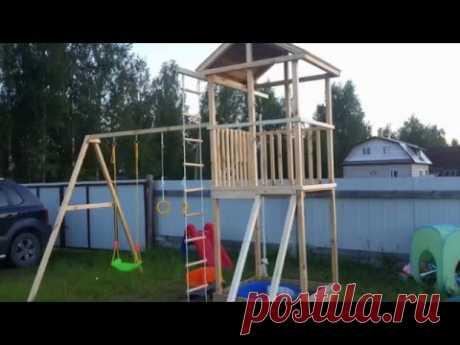 Детская площадка на даче своими руками / Outdoor playground for kids