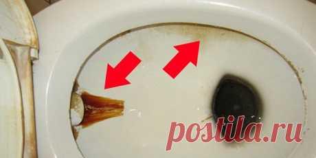 Простой трюк поможет тебе очистить унитаз от всех загрязнений! И надолго избавит от неприятного запаха!