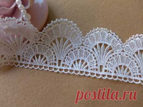 White Scalloped Lace Trim for Weddings Collar Applique Bridal Sashes Costumes - MommyGrid.com