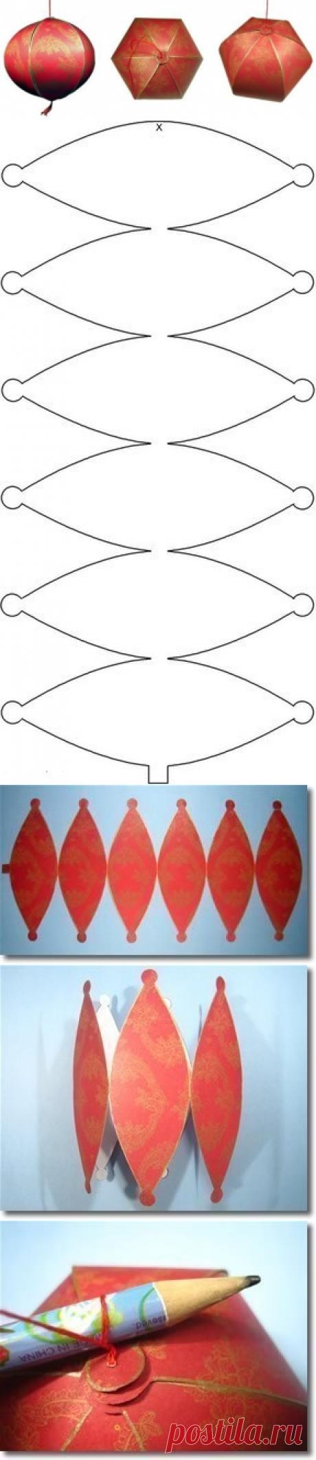 МК Китайские фонарики из бумаги