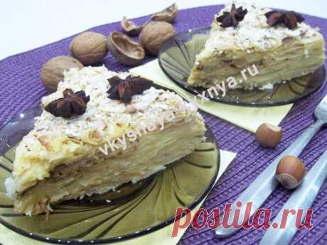 """Ленивый торт """"Наполеон"""": рецепт из армянского лаваша"""
