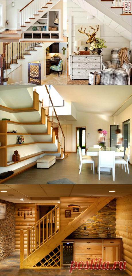17 interesting ideas of arrangement of space under a ladder
