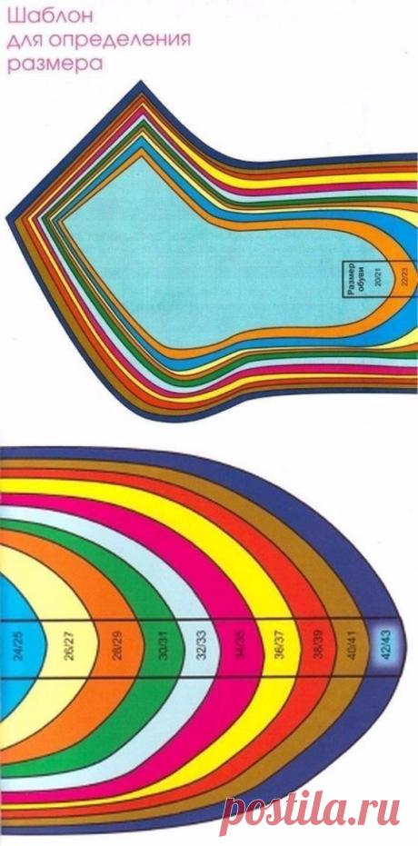 Общие правила вязания носков. Таблица размеров