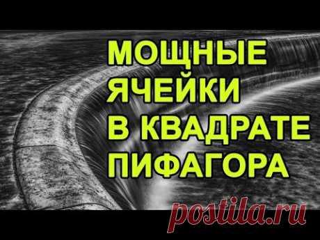 Мощные ячейки в психоматрице - Анализ сильных секторов в квадрате Пифагора - YouTube
