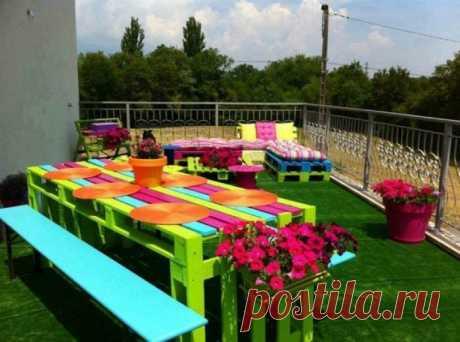 Садовая мебель из подручных материалов / Я - суперпупер