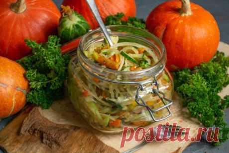 Полезный салат из зелёной редьки с запеченной тыквой — едим и худеем. Пошаговый рецепт с фото — Ботаничка.ru
