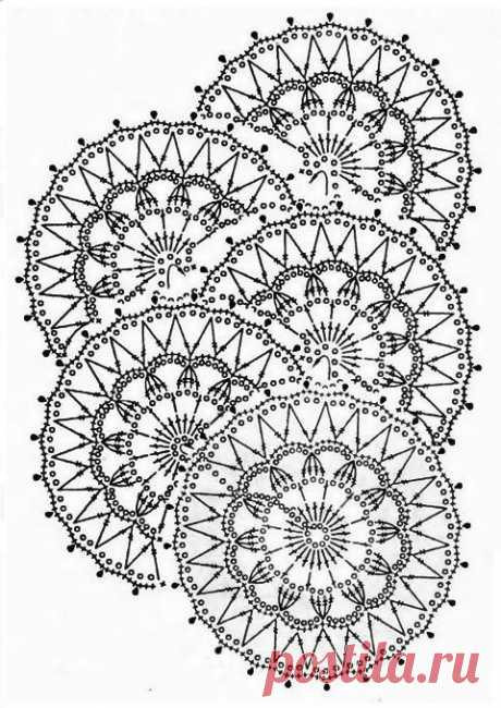 Ленточное кружево крючком модели и схемы: 15 вариантов