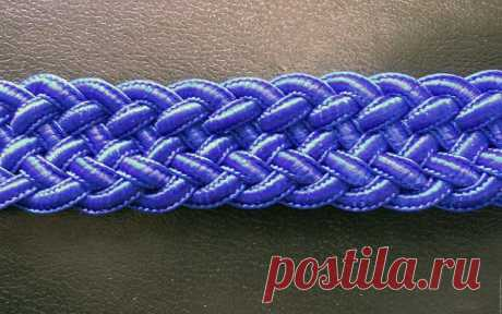 Плетеный пояс или браслет. Схема плетения из пяти шнуров. Часть 2.   Журнал Ярмарки Мастеров