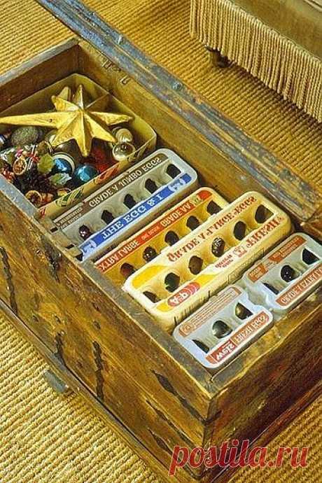 Как хранить стеклянные елочные игрушки / Организованное хранение / ВТОРАЯ УЛИЦА