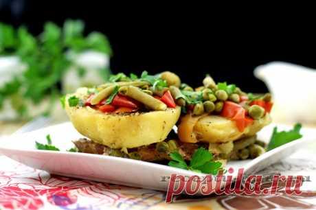 Мясо с картошкой и овощами – рецепт с фото