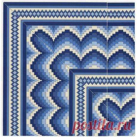 Флорентийская вышивка барджелло: 25 схем разного уровня сложности – Ярмарка Мастеров