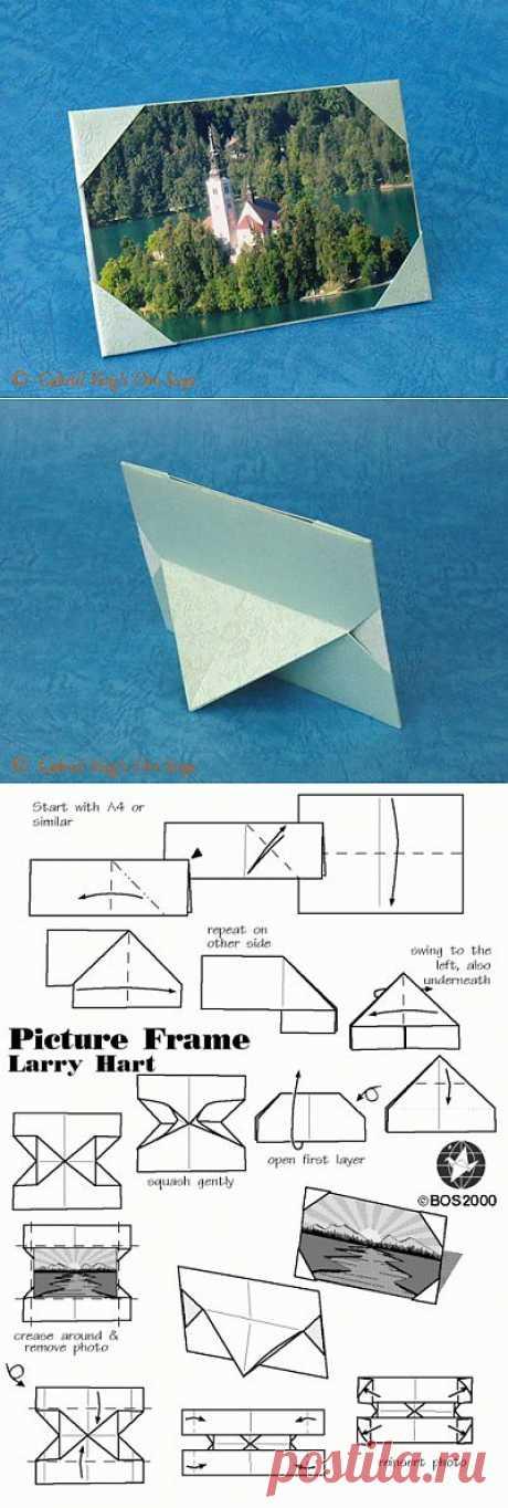 """Вуаля - фото-рамка в технике """"Оригами"""""""