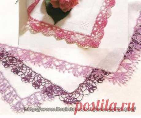 Схемы обвязки носовых платков, салфеток