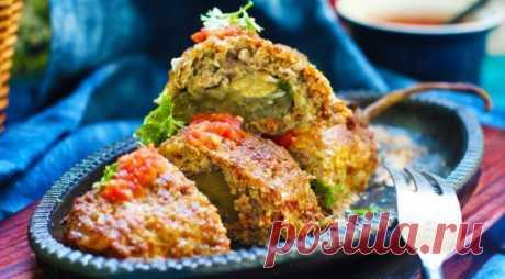 Баклажаны с сыром, запеченные в пеленке из фарша — Sloosh – кулинарные рецепты