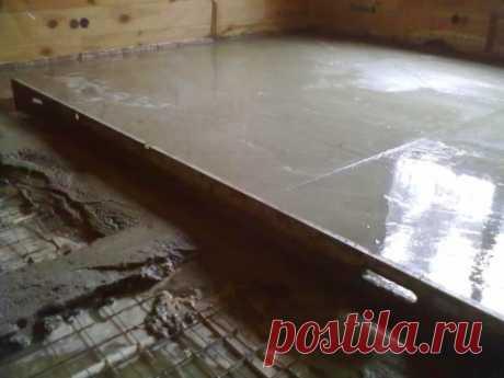 Стяжка пола в гараже: как сделать бетонную стяжку своими руками