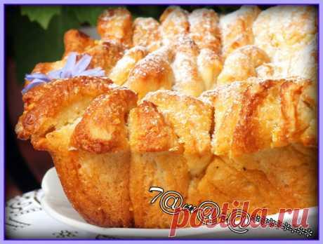 Пирог Гармошка с лимонной начинкой рецепт с фото