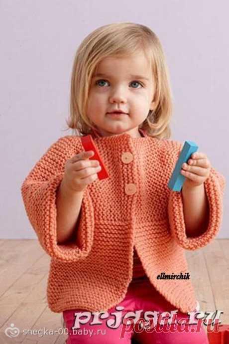 Кардиган для девочки спицами: Детский кардиган и шапочка